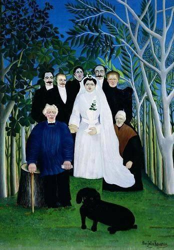 pinturas-de-retratos - Quadro -The Wedding Party, 1904-05- - Rousseau, Henri