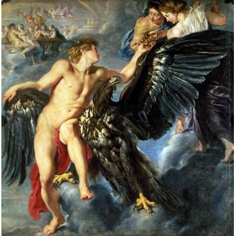 - Quadro -The Kidnapping of Ganymede- - Rubens, Peter Paulus