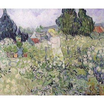 - Quadro -Mademoiselle Gachet in her garden at Auvers-sur-Oise, 1890- - Van Gogh, Vincent