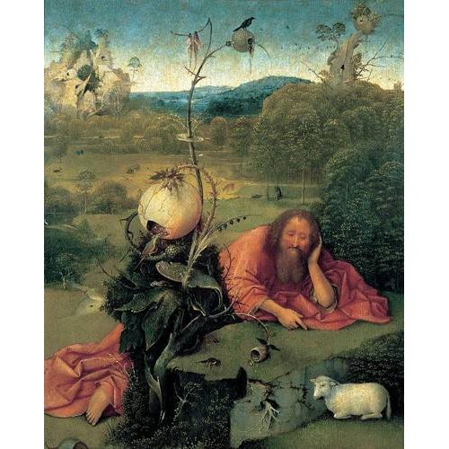 imagens religiosas - Quadro -San Juan Bautista en meditación-