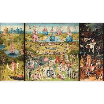 - Quadro -O Jardim das Delícias Terrenas (Tríptico completo).- - Bosco, El (Hieronymus Bosch)