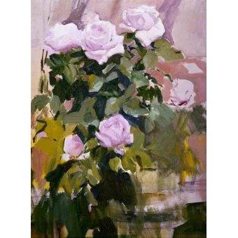 quadros de flores - Quadro -Rosas- - Sorolla, Joaquin