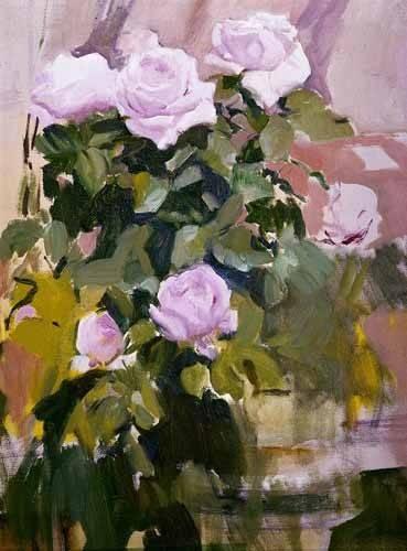 quadros-de-flores - Quadro -Rosas- - Sorolla, Joaquin