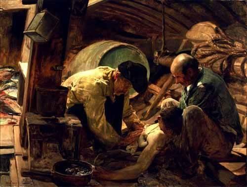 pinturas-de-retratos - Quadro -Y aun dicen que el pescado es caro- - Sorolla, Joaquin
