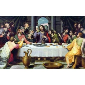 religious paintings - Picture -La Ultima Cena- - Juanes, Juan de