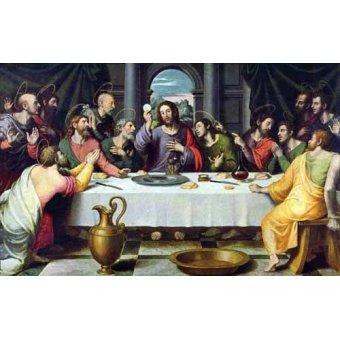 quadros religiosos - Quadro -Da última ceia- - Juanes, Juan de
