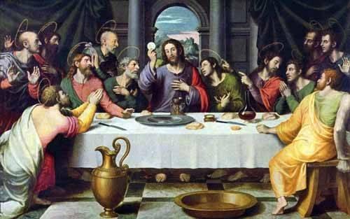 religious paintings - Picture -La Ultima Cena- - Juanes, Juan de