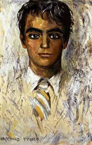 pinturas-de-retratos - Quadro -Retrato de Federico Garcia Lorca- - Sorolla, Joaquin