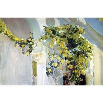 quadros de paisagens - Quadro -Jardin de la casa del artista (I)- - Sorolla, Joaquin