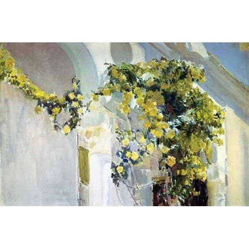 pinturas de paisagens - Quadro -Jardin de la casa del artista (I)-