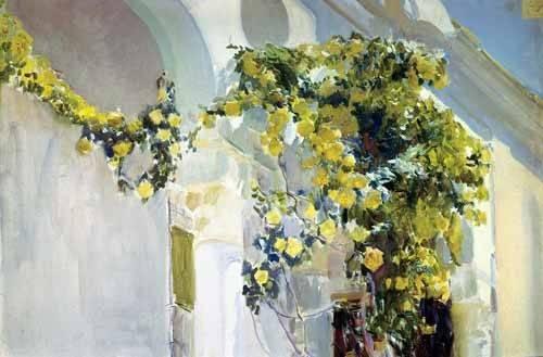 quadros-de-paisagens - Quadro -Jardin de la casa del artista (I)- - Sorolla, Joaquin