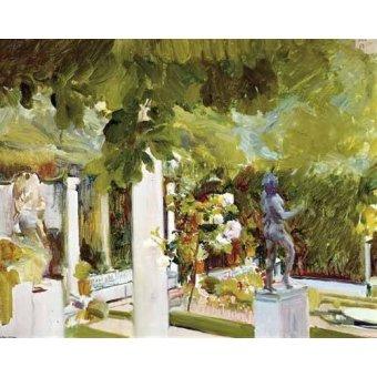 - Quadro -Jardin de la casa del artista (II)- - Sorolla, Joaquin