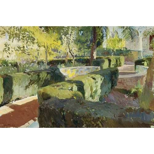 pinturas de paisagens - Quadro -Jardin de la casa del artista (IV)-