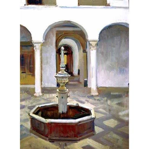 Quadro -Jardines del Alcazar de Sevilla-.