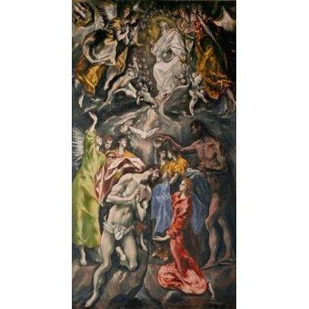 quadros religiosos - Quadro -El Bautismo De Cristo- - Greco, El (D. Theotocopoulos)