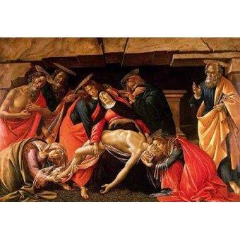 quadros religiosos - Quadro -Lamentación de Cristo- - Botticelli, Alessandro