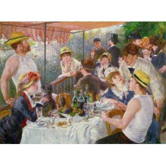 pinturas de retratos - Quadro -Almoço do partido do barco, 1881- - Renoir, Pierre Auguste