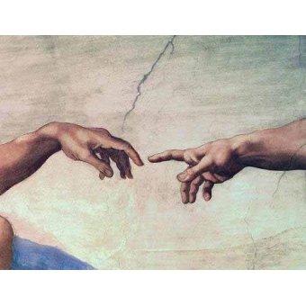 - Picture -Manos de Dios y Adán, detalle de la Creación- - Buonarroti, Miguel Angel