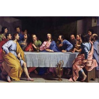 quadros religiosos - Quadro -La Ultima Cena- - Champaigne, Philippe de
