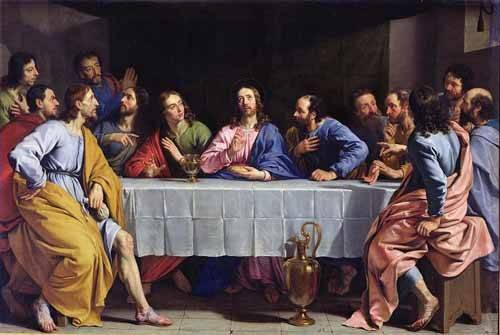 quadros-religiosos - Quadro -La Ultima Cena- - Champaigne, Philippe de