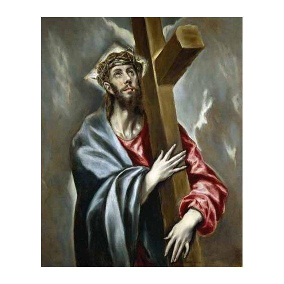 imagens religiosas - Quadro -Cristo portando la Cruz-