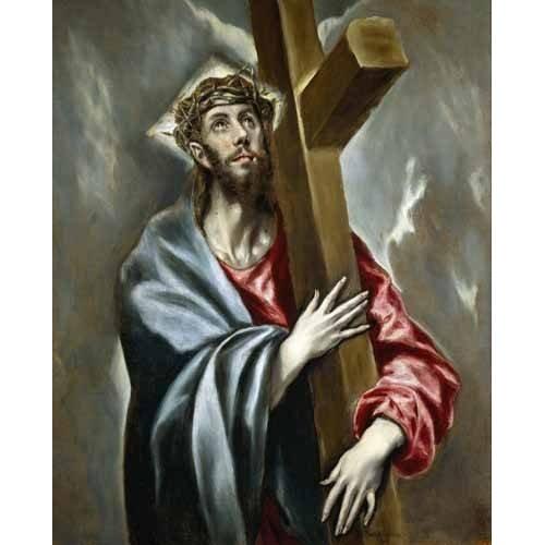 Quadro -Cristo carregando a cruz-