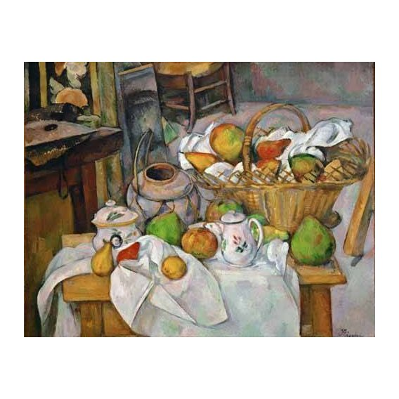 Still life paintings - Picture -Bodegón con cesto de fruta-
