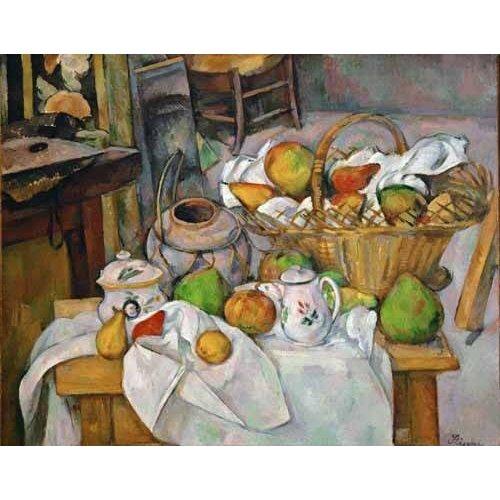 Picture -Bodegón con cesto de fruta-