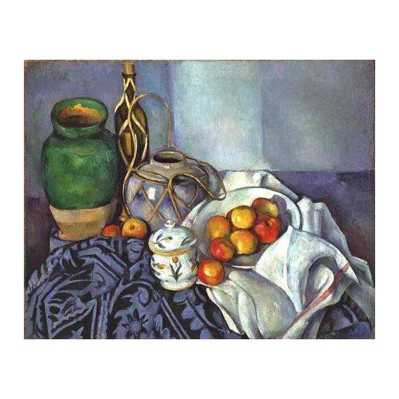 naturezas mortas - Quadro -Bodegón con ollas y frutas (1890)-