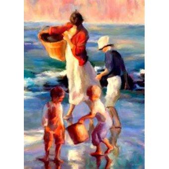 quadros de paisagens marinhas - Quadro -Moderno CM1397- - Medeiros, Celito