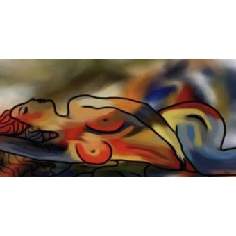 pinturas de retratos - Quadro -Moderno CM1640- - Medeiros, Celito