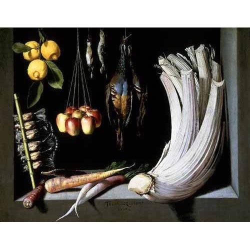 naturezas mortas - Quadro -Caza, fruta y hortalizas -