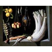 Quadro -Caza, fruta y hortalizas -