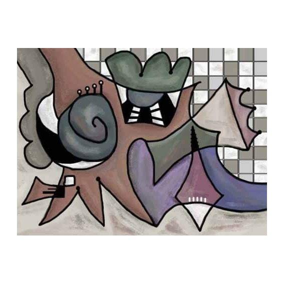 pinturas abstratas - Quadro -Moderno CM1810-