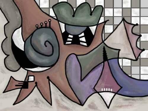 quadros-abstratos - Quadro -Moderno CM1810- - Medeiros, Celito