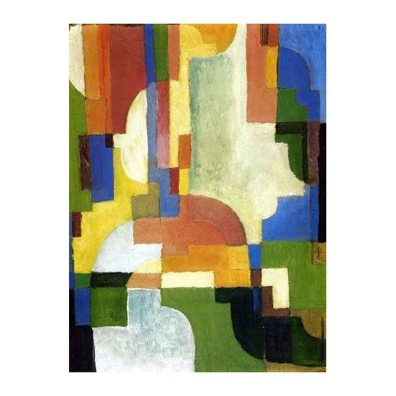 cuadros abstractos - Cuadro -Colored forms-1-