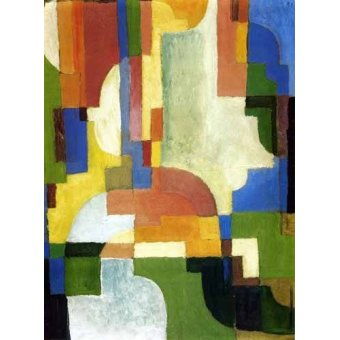 Quadro -Colored forms-1-