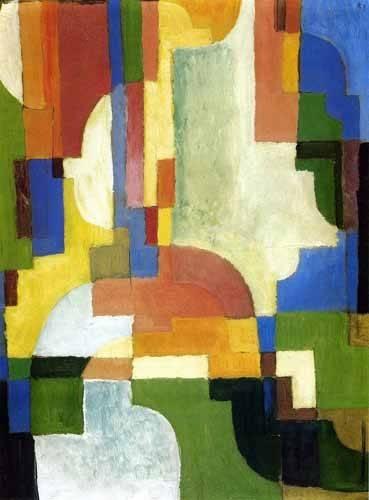 quadros-abstratos - Quadro -Colored forms-1- - Macke, August
