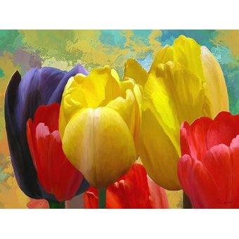 quadros de flores - Quadro -Moderno CM2136a- - Medeiros, Celito