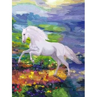 quadros de animais - Quadro -Moderno CM2458- (caballos) - Medeiros, Celito