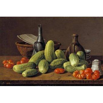 - Quadro -Pepinos y tomates- - Melendez, Luis