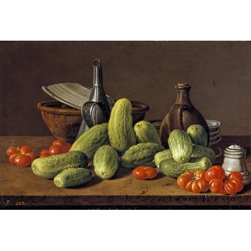 Quadro -Pepinos y tomates-