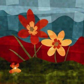 quadros de flores - Quadro -Moderno CM2528- - Medeiros, Celito