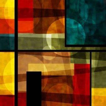 cuadros abstractos - Cuadro -Moderno CM2540- - Medeiros, Celito