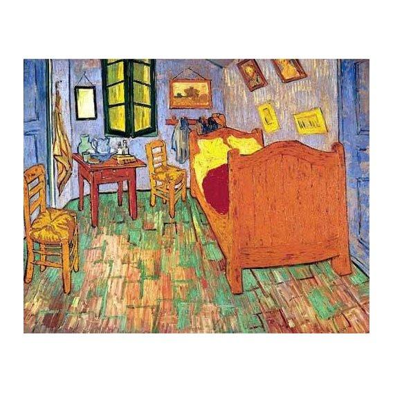 naturezas mortas - Quadro -La habitación de Van Gogh en Arles, (1889)-