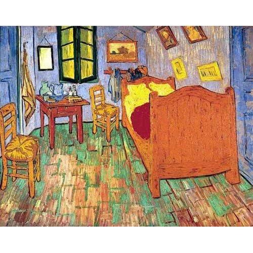 Quadro -La habitación de Van Gogh en Arles, (1889)-