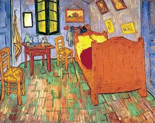 Still life paintings - Picture -La habitación de Van Gogh en Arles, (1889)- - Van Gogh, Vincent