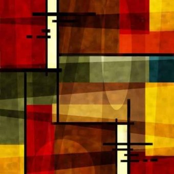 abstracts paintings - Picture -Moderno CM2541- - Medeiros, Celito