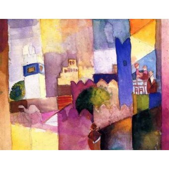 Quadros abstratos - Quadro -Paint-023- - Macke, August
