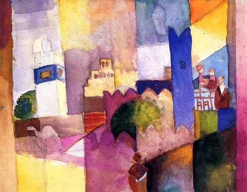 quadros-abstratos - Quadro -Paint-023- - Macke, August